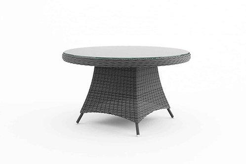 Záhradný ratanový stôl RONDO Ø 130 cm šedý