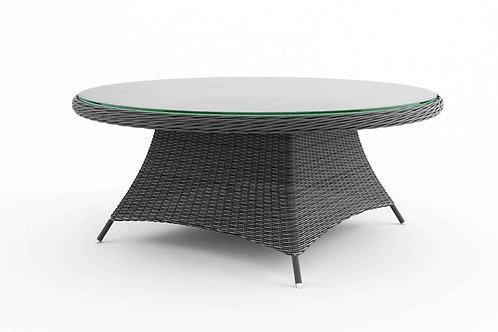 Záhradný ratanový stôl RONDO Ø 180 cm šedý