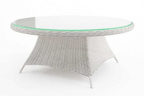 Záhradný ratanový stôl RONDO Ø 180 cm biely