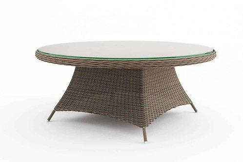 Záhradný ratanový stôl RONDO Ø 180 cm pieskový