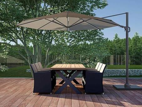 Veľký záhradný slnečník - moderné riešenie pre vaše pohodlie
