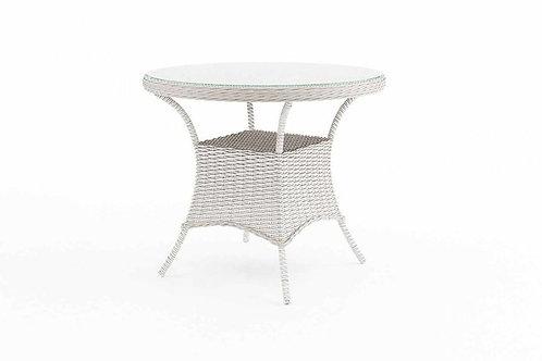 Záhradný ratanový stôl FILIP Ø 90 cm biely