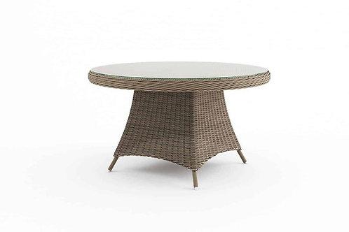 Záhradný ratanový stôl RONDO Ø 130 cm piesok