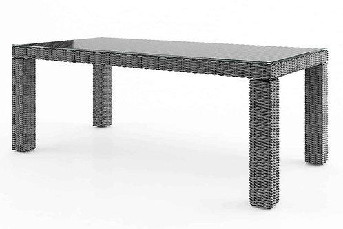 Záhradný ratanový stôl RAPALLO 220 cm sivý