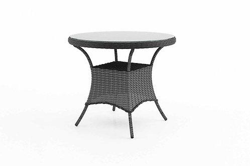 Záhradný ratanový stôl FILIP Ø 90 cm šedý