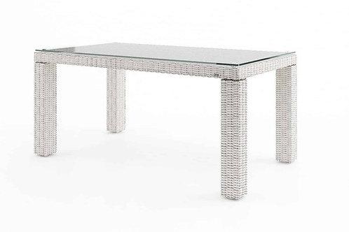 Záhradný ratanový stôl RAPALLO 160 cm biely