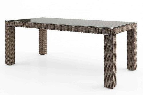 Záhradný ratanový stôl RAPALLO 220 cm pieskový