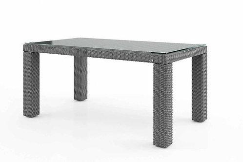 Záhradný ratanový stôl RAPALLO 160 cm šedý
