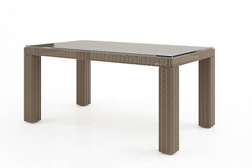 Záhradný ratanový stôl RAPALLO 160 cm pieskový