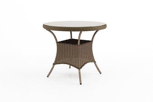 Záhradný ratanový stôl FILIP Ø 90 cm pieskový