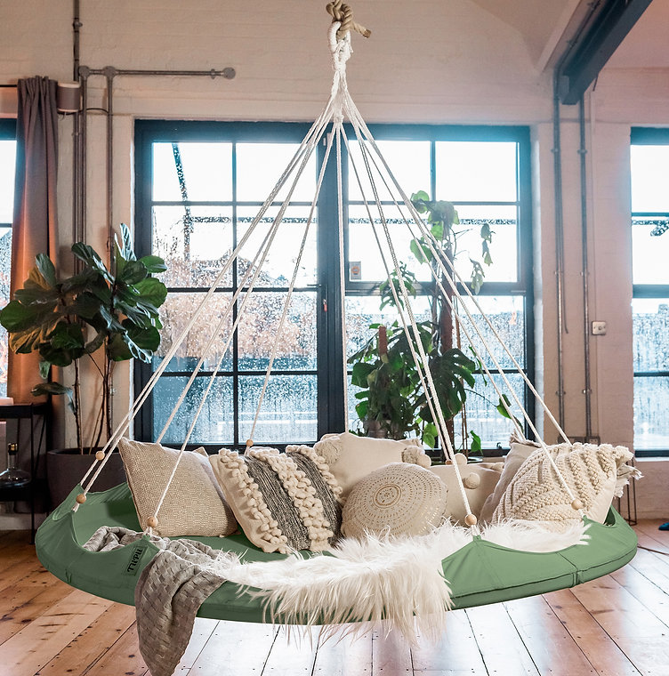 14_Classic Olive TiiPii Bed_Freehanging_