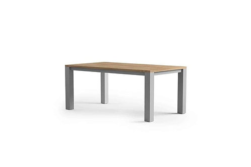 Záhradný hliníkový stôl/teak MADRID sivý