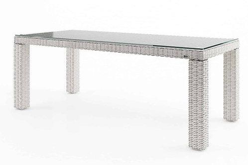 Záhradný ratanový stôl RAPALLO 220 cm biely