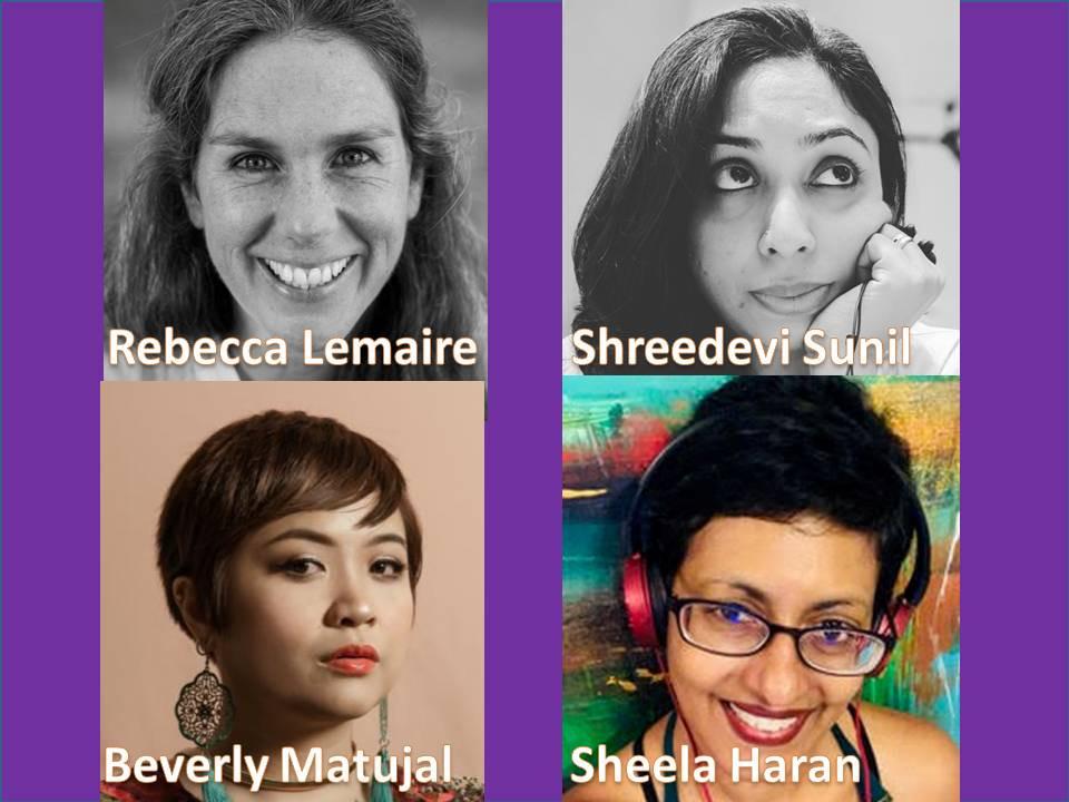Rebecca Lemaire(UK), Shreedevi Sunil (India) Sheela Haran (Malaysia) Beverly Matujal (Malaysia)