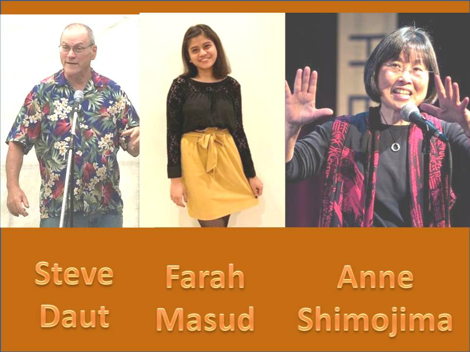 Steve Daut/Anne Shimojima/Farah Masud/Beatles/Credence Clearwater Revival/stories for music read by Shanthini Venugopal & Edwin Sumun