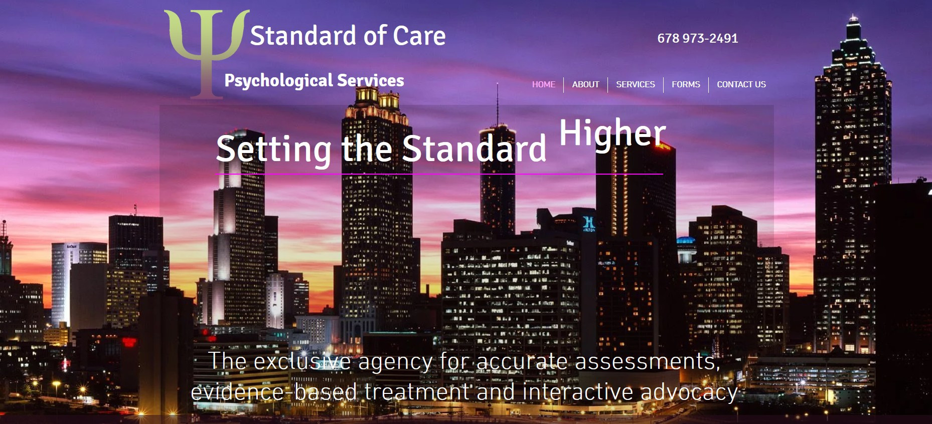 Standard of Care- Psychological Services