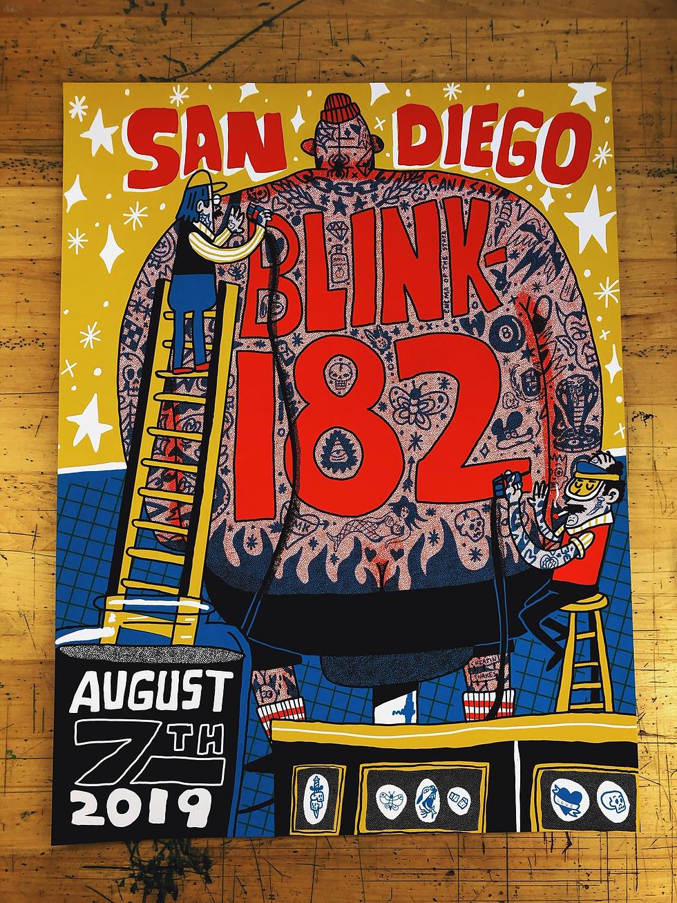 BLINK-182 San Diego tour poster