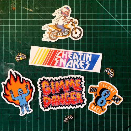 Gimme Danger sticker pack