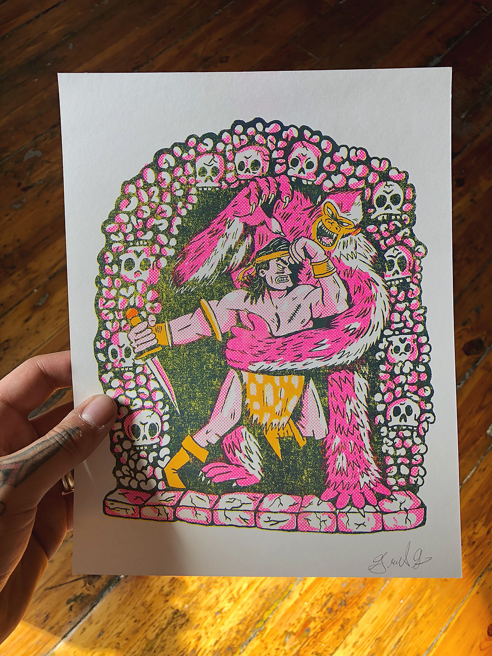 Savage of the Catacombs riso print