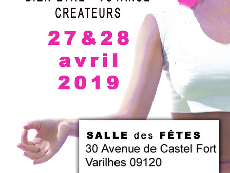 """Salon Bien-être, Voyance et Créateurs """"Créa'Zen"""" à Varilhes 2019"""