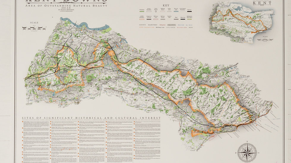 Kent Downs Map