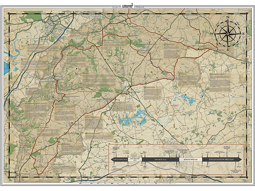 South Cotswold Trail Map Print