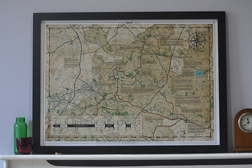 North Cotswold Trail Map Print