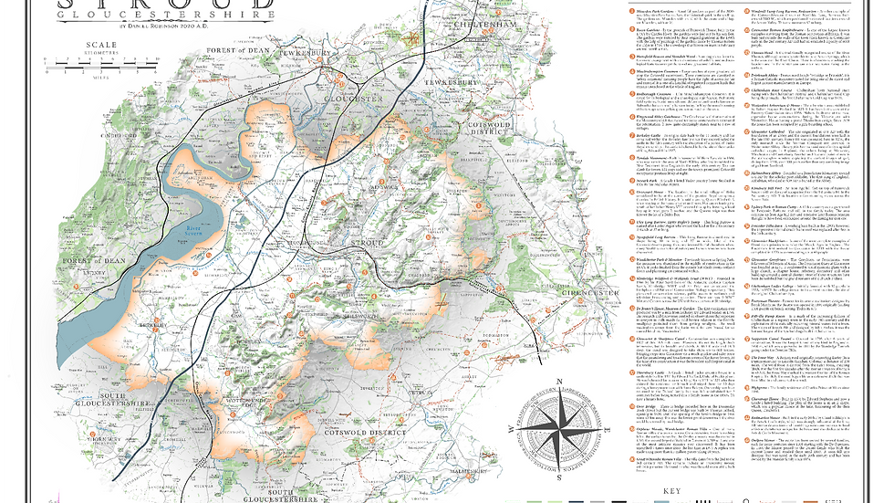 stroud district - print