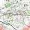 detailed map of Warwickshire