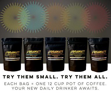 Gigawatt Coffee Sampler Pack
