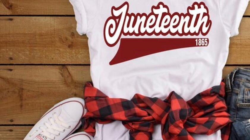 White Juneteenth (red letters)
