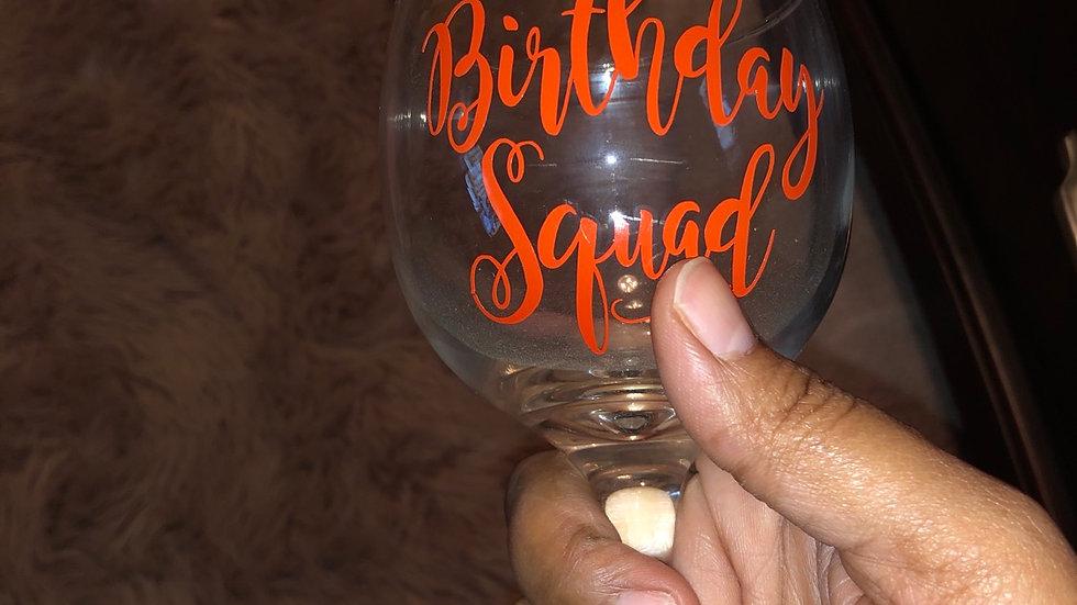 Customizable Wine Glass (individual glass)