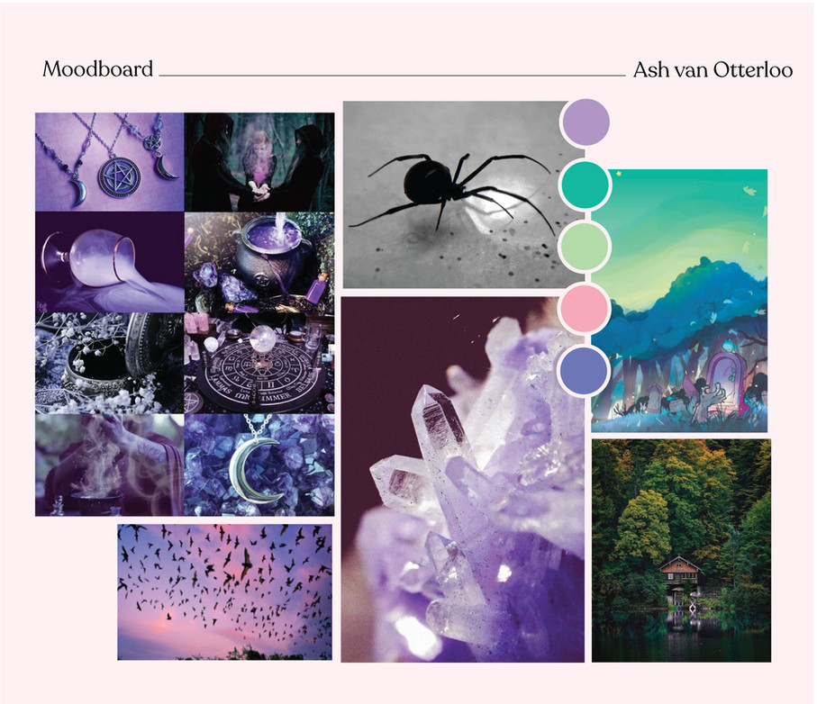 Moodboard of site