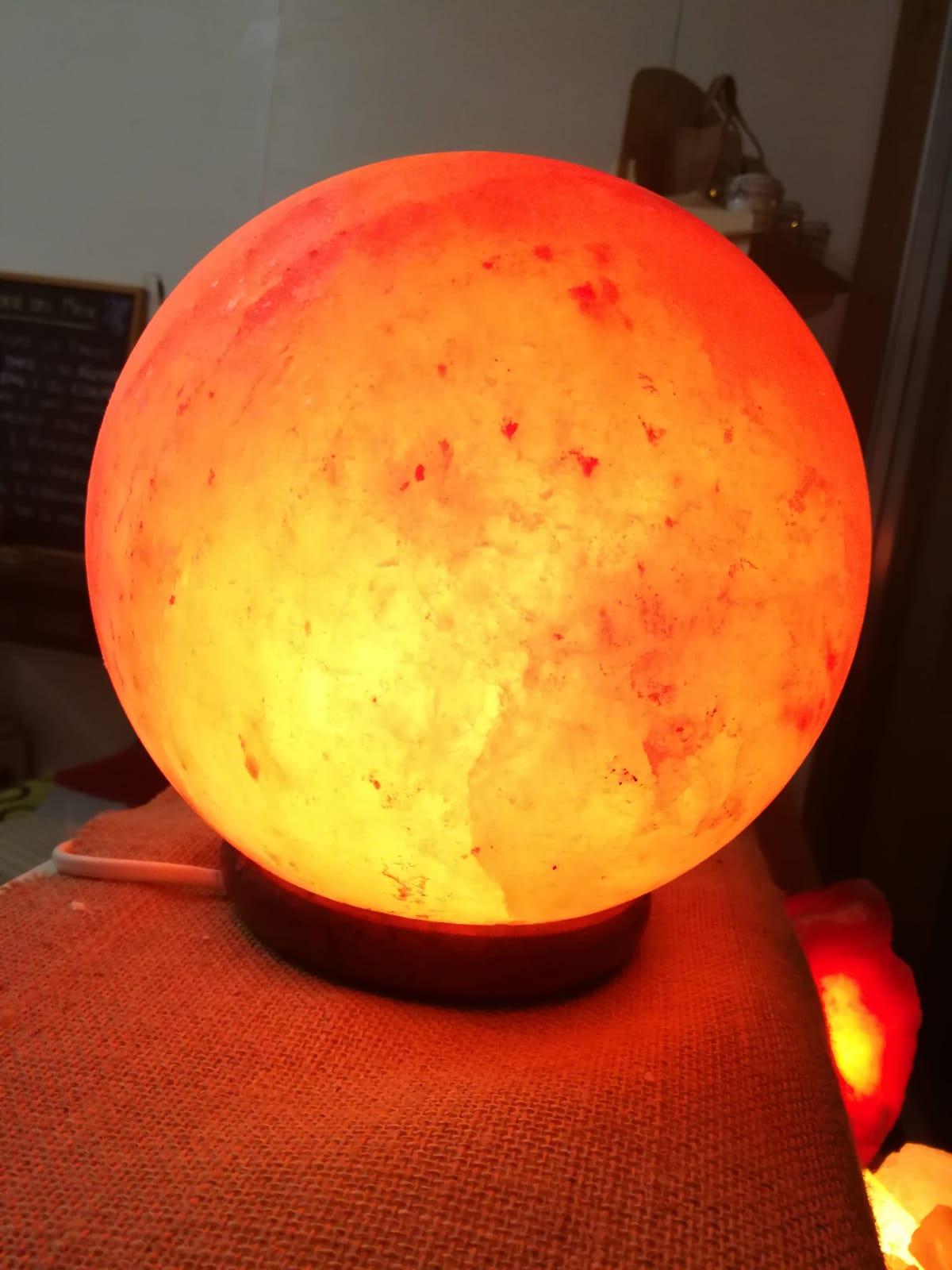 Lampada di Sale forma sferica