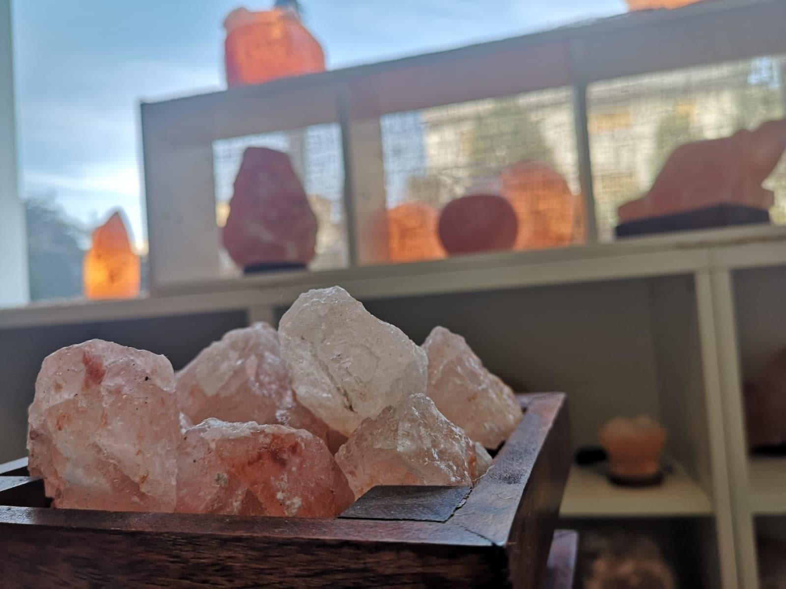 Vetrina lampada di sale