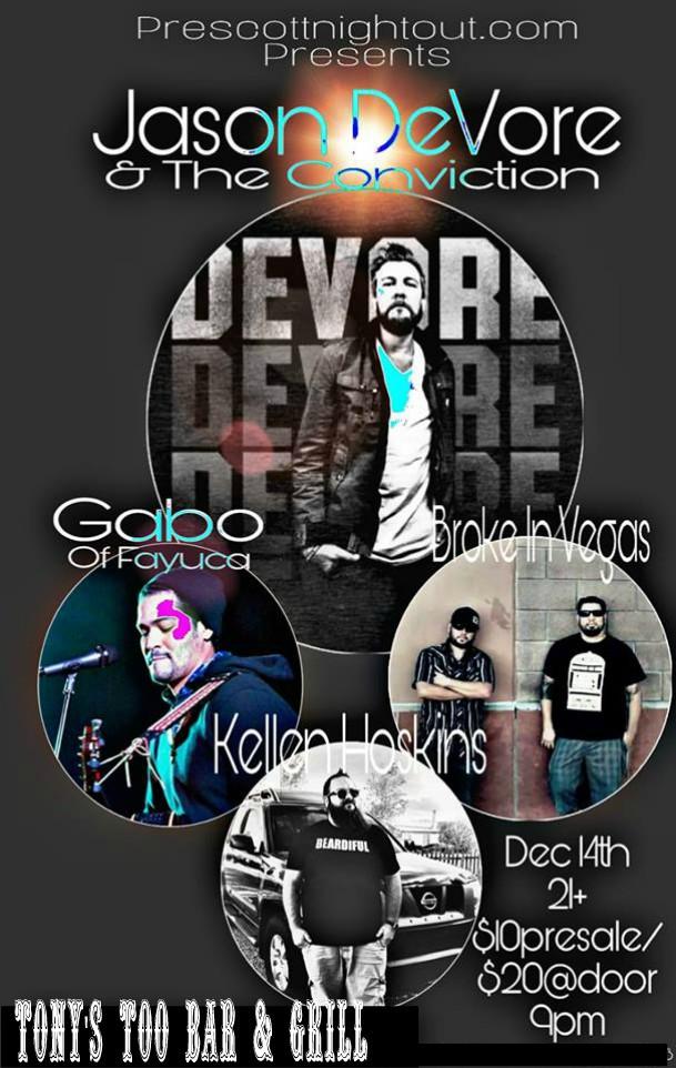 Jason DeVore Will Be Live Dec 14th!