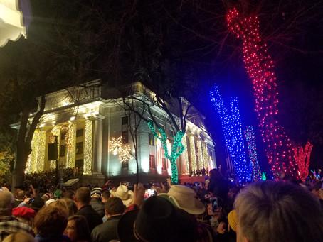 The Prescott Court House Lighting was AMAZING