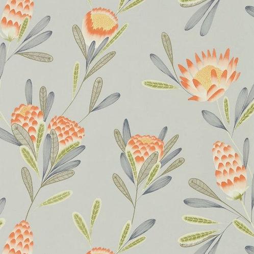 Harlequin Cayo Wallpaper - Coral/Silver 111773
