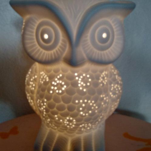 Lampe Porcelaine Céramique Hibou