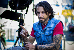 Sylvain avant un tournage