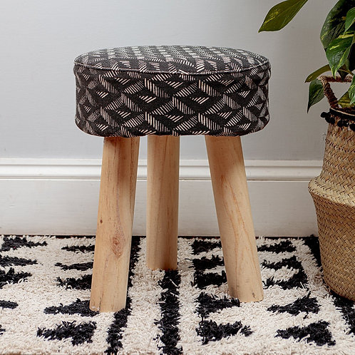Black Aztec Stool