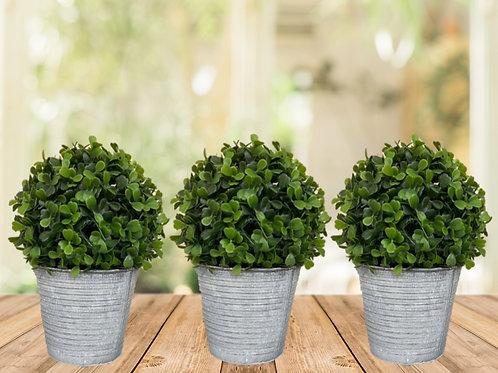 Set of 3 Zinc Planters