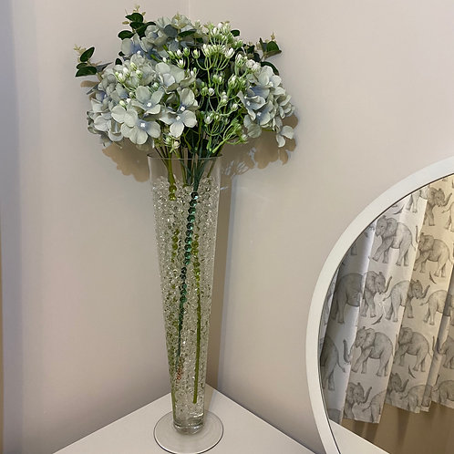 Clear Cone Vase