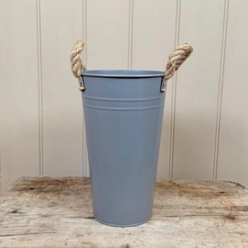 Grey Flower Bucket