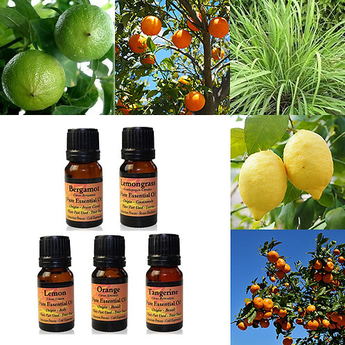 Citrus pakket - 5 essential oils