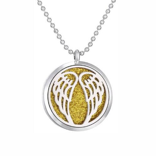 Geurketting - Angelwings - zilverkleur - 5 kleurenpads