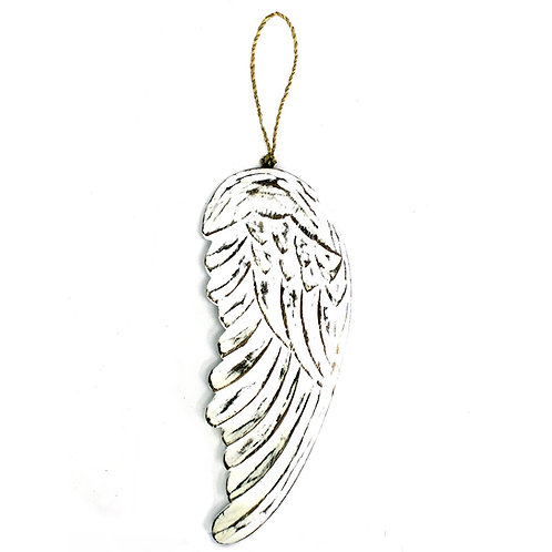 Engelen vleugel 30 cm hout – wit - krijtbord - muurdecoratie