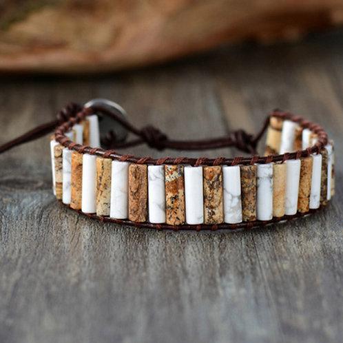 Bohemian Chakra armband -Jaspis