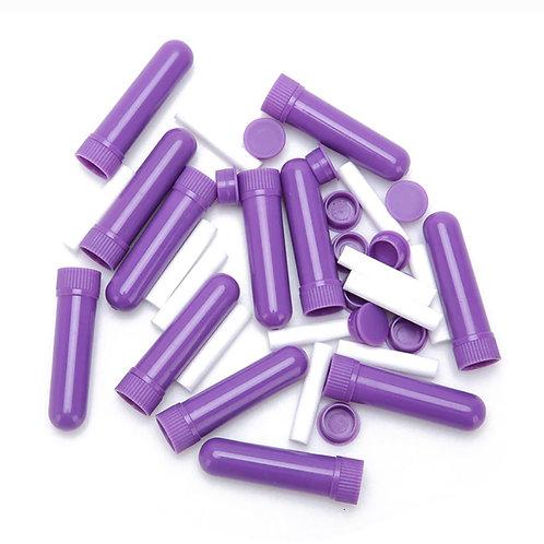 Neusinhaler paars - navulbaar met Japanse plantenolie