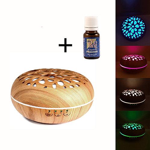 Magnolia aroma diffuser - wood - USB - 300 ml